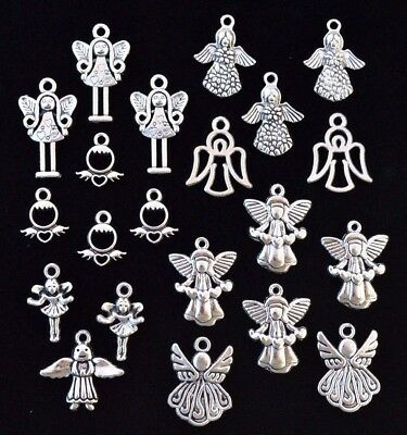 25pc BABY SHOWER GENDER REVEAL Charm Set Size 14mm to 28mm Tibetan Silver #2