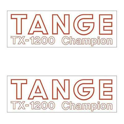 TANGE TX-1200 Fork Decals 1 Pair White//Red