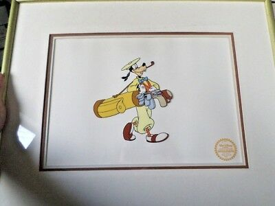 Disney Goofy 'How to Play Golf' Limited Edition Serigraph Cel  Framed