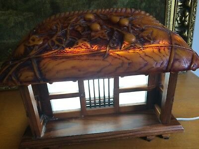Vintage and Unique - Hard Resin type - Japanese Minka style - Table Lamp