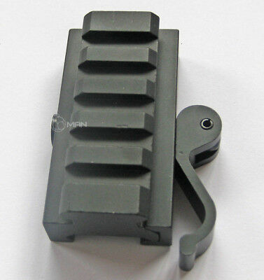 New 5 Slots QD Quick Release Mount Hunting For 20mm Rail Mounts Weaver Adapter