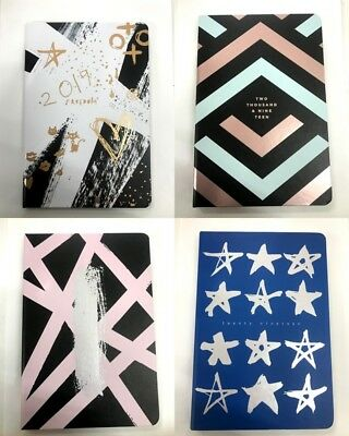 2019 Diary A5 Day To Page Soft Pu Feel Paper Fashion Print Lady's Diary A5 Day