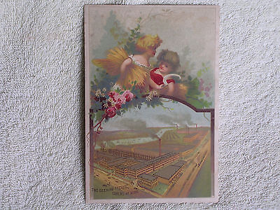 William Deering & Co Farm Implement Factory-Bird's Eye View/1880s Trade Card
