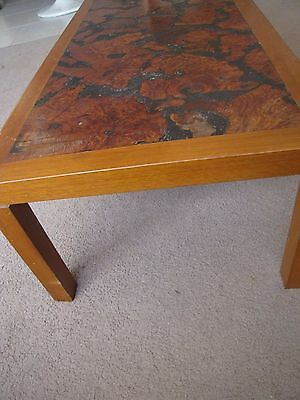 Retro/Scandi - Amazing Mallee Root Inlay COFFEE TABLE - Sturdy