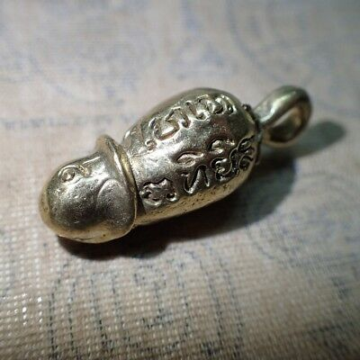 Thai Talisman Paladkik Brass Penis Charm-Love Sexual Magic Amulet