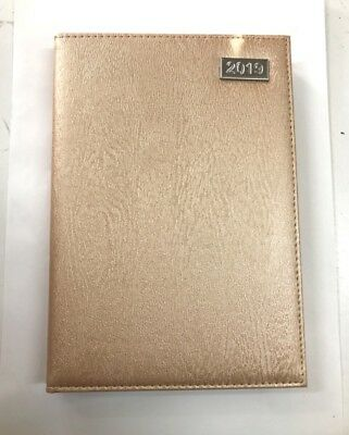 2019 Diary A4 Week To Page Fancy Cover Womens Diary A4 WTA-Champagne