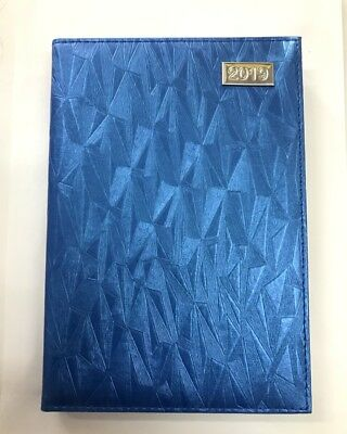 2019 Diary A4 Day To Page Fancy Cover Women's Diary A4 Day To An Opening-Blue
