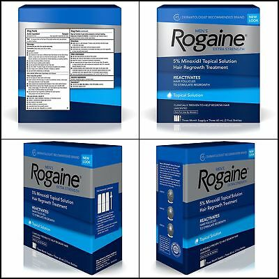 Men's Rogaine Hair Loss and Regrowth Treatment 5% Minoxidil Topical Solution