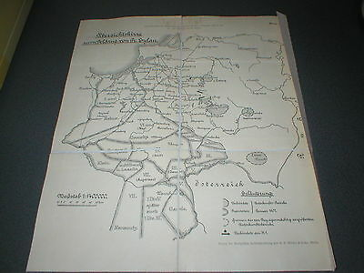 1807 Battle of Eylau, Napoleonic Wars, Map from 1907 in German
