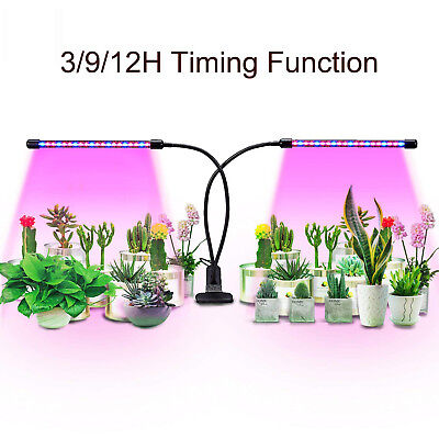 24W Dual Head Plant Grow Light Lamp with 30 LED for Indoor Hydroponics Plants