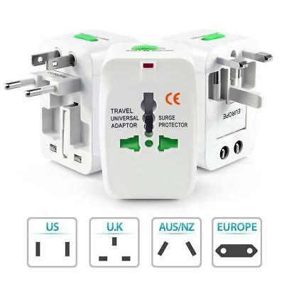 Universal All In One Power Adapter World Charger Socket Travel Plug Converter JS