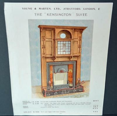 Vintage Architectural Advert ' Young and Marten Stratford 'Kensington Fireplace.