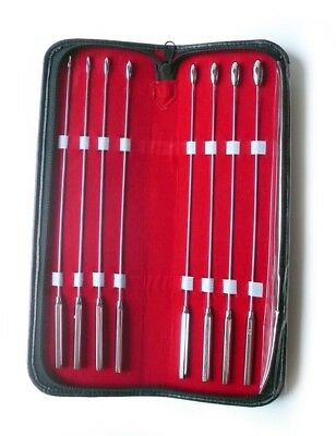 Bakes Rosebud Urethral Sounds Dilator SET Of 8pcs