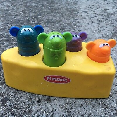"""PLAYSKOOL """"Yellow"""" Pop-up Mouse Children's Interactive Playroom Toy (2003)"""