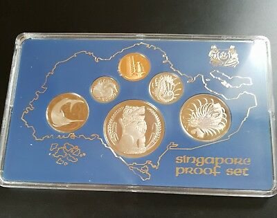 1977 Singapore Proof Coin Set (6 Coins)....