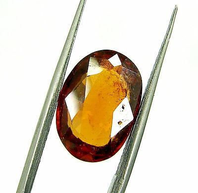 4.35 Ct Certified Natural Garnet/Hessonite/Gomed Loose Gemstone Stone - 118723