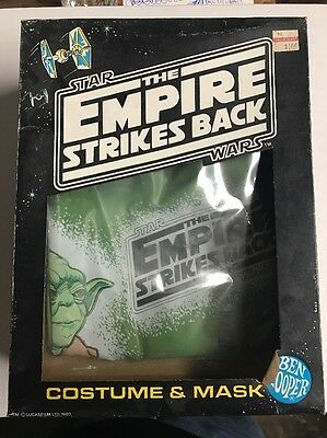 Star Wars Ben Cooper Yoda In Box (Costume Only) Small 4-6