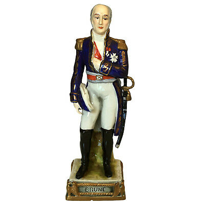 Rare Bourdois & Achille Bloch porcelain figure of Napoleonic Marshal Brune