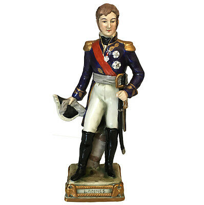 Rare Bourdois & Achille Bloch porcelain figure of Napoleonic General Lannes