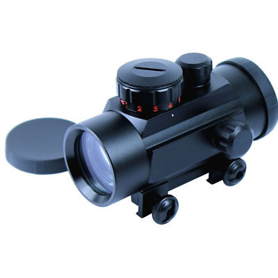 1PC Hunting Red Green Dot Tactical 1X30 Sight Scope Weaver Picatinny Rail Mount