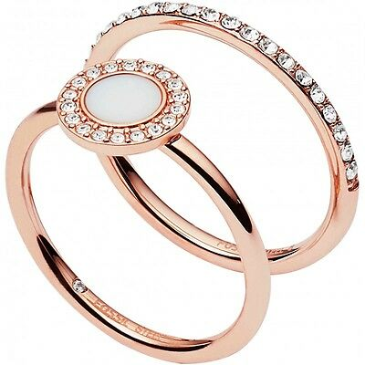 Ring Fossil Women's JF02666791 508 steel Rose Gold Measurements 16