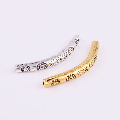 2pcs 5mm x 38mm 14k yellow Gold Filled Elbow Curved moon arch plain Tube GB01