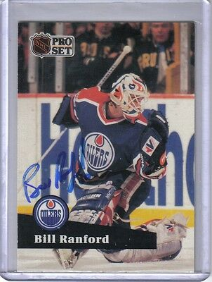 Signed Autographed Bill Ranford 1991-92 Pro Set Hockey Card Auto