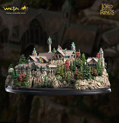 Weta Rivendell Herr der Ringe Lord of the Rings Diorama Lord of the Rings Neu !
