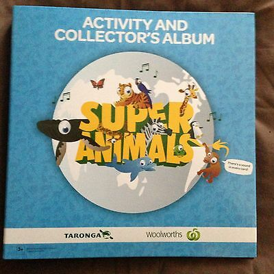 """Woolworths """"super Animals"""" Blue & Green Albums & 2 Full Sets 180 Sound Cards"""