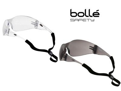 Bole Safety Glasses Spectacles Wrap around Fit Clear / Smoked Lens Anti Scratch