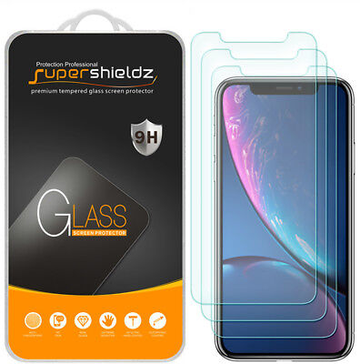"""3X Supershieldz Tempered Glass Screen Protector Saver for Apple iPhone XR (6.1"""")"""
