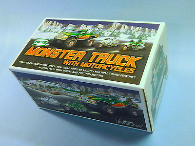 HESS TRUCK 2007 Monster Truck & 2 Motorcycles MINT IN BOX
