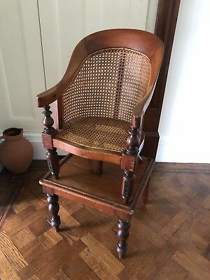 Lovely Victorian Child's  Metamorphic High Chair & Table Circa 1840