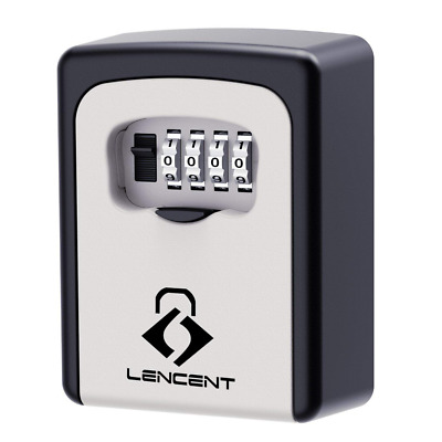 Key Lock Box, Lencent Wall Mounted Safe, Storage With Strong