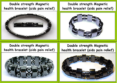 Black Magnetic Hematite Bracelet Bangle Beads Pain Relief Therapy Arthritis mens