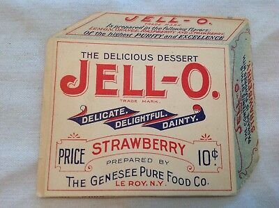 1902 Jello, Strawberry Dessert Pamphlet, Genesee Food.  Leroy, N.Y.