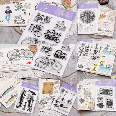 Transparent Silicone Clear Rubber Stamp Cling Constellation Scrapbook Card DIY