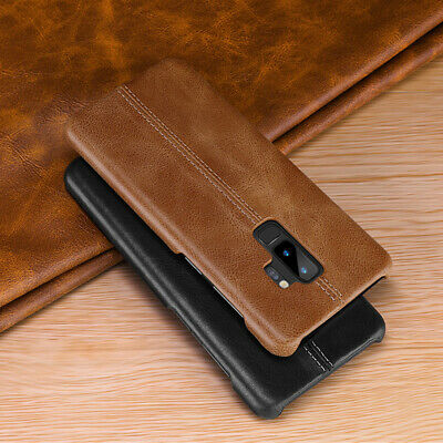 100% Real Genuine Leather Back Case Cover For Samsung Galaxy S10+/E/S9/S8/Note 9