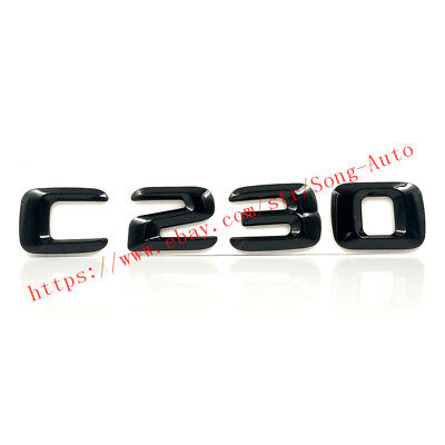"Gloss Black /""C300/"" 3D Trunk Rear Letters Words Badge Emblem for Mercedes Benz"
