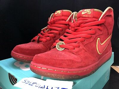 purchase cheap 983a2 3d6c1 Nike Dunk High Premium SB CHINESE NEW YEAR CNY YEAR OF THE HORSE YOTH RED  9.5