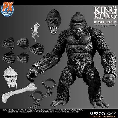 "7"" King Kong Collectible Model Action Figure Limited PX black and white version"