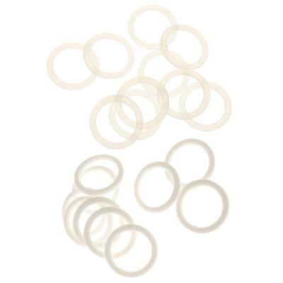 20Pcs Silicone Baby Pacifier Ring Chain Holder Napkin Adapter Dummy O Rings