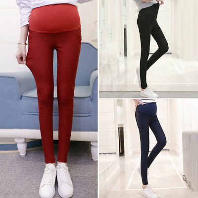 Pregnant Women Maternity Pencil Soft Pants Pregnancy Casual High Waist Trousers