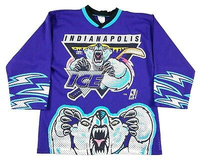 VINTAGE BAUER INDIANAPOLIS Ice Hockey Sweater Jersey size M