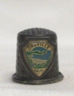Oroville Calif Pewter Thimble