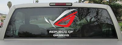RoG Logo Vinyl Decal - Republic of Gamers Sticker - You Choose Size & Color
