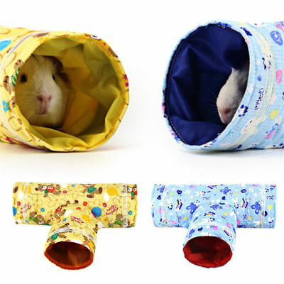 3 Way Small Animal Tunnel Rabbit Ferret Hamster Guinea Pig Exercise Toy Pet Tub
