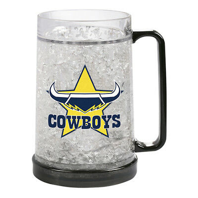 North QLD Queensland Cowboys NRL Gel Ezy Freeze Beer Stein Frosty Mug Cup Gift