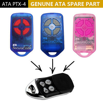 ATA  remote control securacode compatible gate/garage door replacement PTX-4