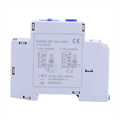 AC220V 16 A DIN Rail Staircase Electronic Relay Switch Time Timer For Corridor